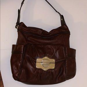 B. Makowski Brown Hobo Bag